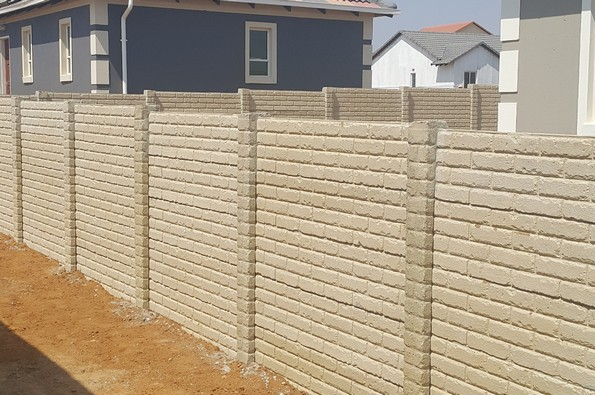Beige plain precast concrete wall NEW-2854