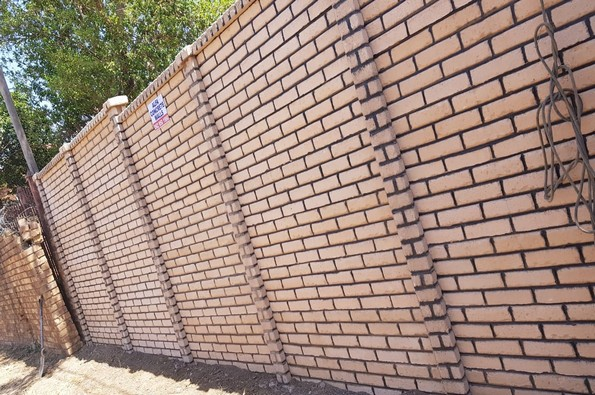 Brickcrete tan precast concrete wall 3-2345